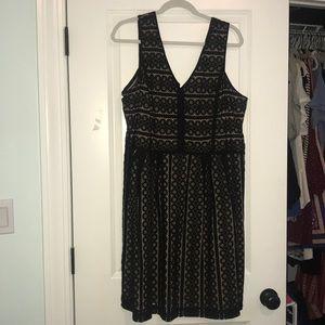 LOFT Black Formal Dress